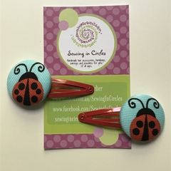 Ladybugs hair clips