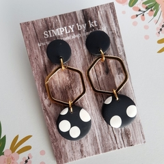 Polymer clay statement earrings handmade by SIMPLY by kt