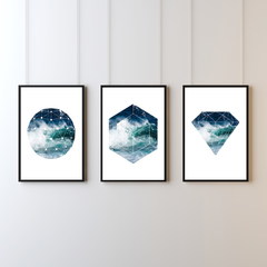 Geometrical Ocean Print Collection | Minimalist Art | Digital Print