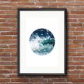 Geometrical Ocean Print Collection   Minimalist Art   Digital Print