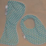 Small Burp Cloth & Bib Set INCL. POST Bamboo Terry  & 100% Cotton Print Fabric