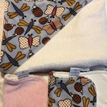 Butterfly Minky Hooded Baby Towel in Bamboo & Poly Terry Cloth