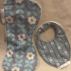 Large Burp Cloth & Bib Set