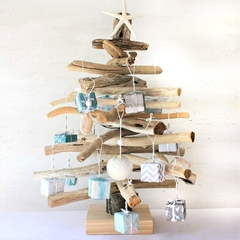Christmas Tree.. in driftwood complete with decorations