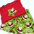 """Custom Listing for Erin - Size 0 """"Jolly Santa"""" Shorts and Appliqued Singlet"""