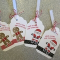 4 Christmas Gift Tag Pack, swing tag