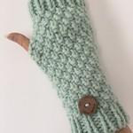 Mint green fingerless gloves handwarmers merino texting gloves