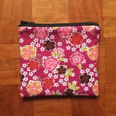 Dark Pink floral Coin Purse