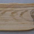 Wood Burnt Hot Air Balloon Camphor Laurel Cutting Board