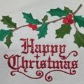 Ladies Boat Neck Dolman Sleeve T-Shirt Happy Christmas