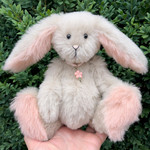 Misty - a one of a kind artist bunny, alpaca fur, adult collectible