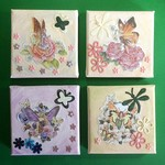 Four Flower Fairies Mixed Media Canvases