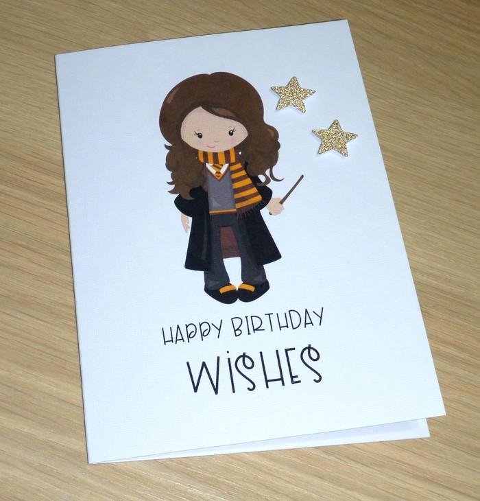 Harry Potter Fans Hy Birthday Card Hermione Handmade Greeting Vicki G Madeit Au