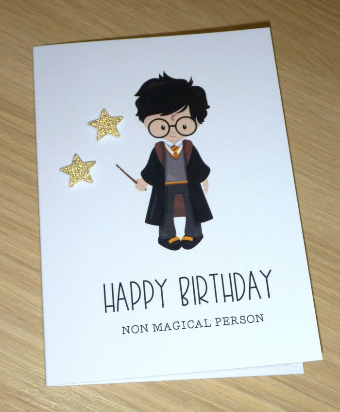 Harry Potter Fans Happy Birthday Card