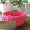 Crochet Basket- Midi- Candy Pink