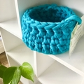 Crochet Basket - Small Teal