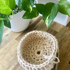 Crochet Basket- Midi- Natural