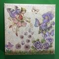 Set of Four 'Garden Fairies' Mixed Media Canvases