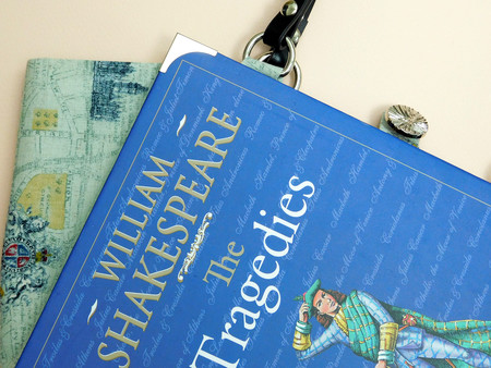 The Tragedies -  William Shakespeare Novel Bag - Bag made from a book