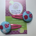 Cherry hair clips