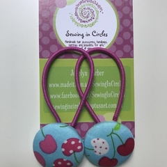 Cherry hair ties