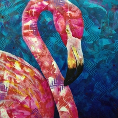 Flamingo fine art print - Pretty in Pink - ( 11 x 14 in )