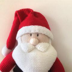 Santa  - hand knitted.