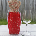 Christmas Wine Gift Bag | Red Starburst with Merry Christmas | Free Shipping