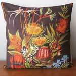 Vintage Retro Australian Waratah Wildflowers Cushion
