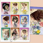 Harrison Fisher Postcards ATCs Printable 2