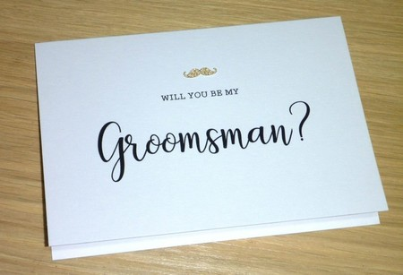 Will you be my Best Man - Groomsman - Page boy - wedding party cards
