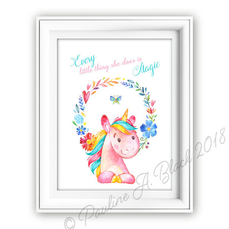 Unicorn Magic Watercolour Print