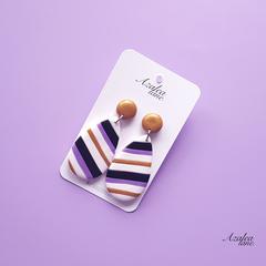 Azalea Lane AU - Purple Tie (raindrop dangle)