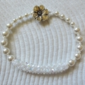 Swarovski Crystal and Pearl Bracelet