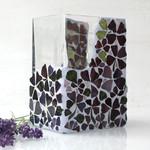 Mosaic flower Vase  in shaded tones