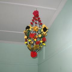 Polish Chandelier Felt Sunflowers