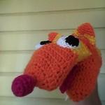 Crochet Hand Puppet - Crazy cat