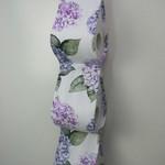 Mauve Fabric Toilet Roll Holder, Paper Holder / Storage for Bathroom, Caravan -