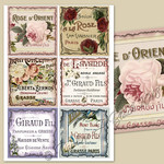 French Perfume Labels Burnt-edged Printable