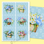 Floral Baskets Butterflies Printable