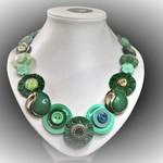 Button necklace - Emerald Isle