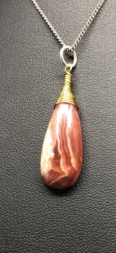 14.222 carat Natural Rhodochrosite in Brass setting