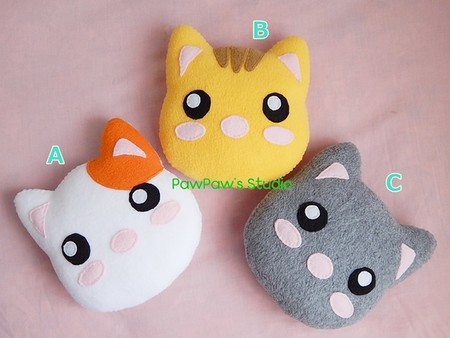 Cat Plush / Mini Pillow / Softie / Home Decor / Soft Toy / Gift