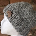 Knitted Beanie Pattern, ladies beanie, knitted hat pattern, beanie pattern, knit
