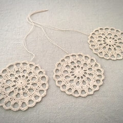 Set of 3 Doily Christmas Decorations or Gift Tags