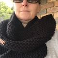 Pattern Knitted infinity scarf, scarf pattern knit, cowl pattern, beginner knitt
