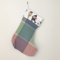 Upcycled wool Christmas stocking with elf detail