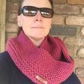 Pattern Knitted infinity scarf, scarf pattern knit, cowl pattern, beginner knitt