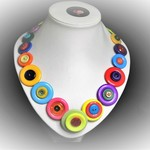 Button necklace - Bright and Beautiful