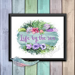 Life by the sea Quotation Print